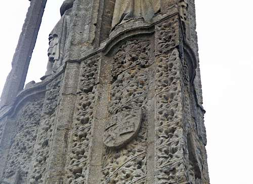 The Eleanor Cross Geddington. Surface cleaning and identification of surviving paint fragments. Employer: Harrison Hill Ltd
