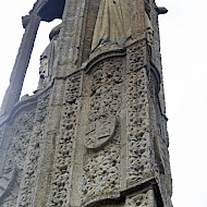 The Eleanor Cross, Geddington. Surface cleaning and identification of surviving paint fragments. Employer: Harrison Hill Ltd. Client: English Heritage