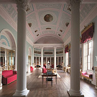 Kenwood House Hampstead. The Library Reinstated Robert Adam Scheme of 1776, Winner of the Georgian Group Award for the Best Restoration of a Georgian Interior 2014. Researched and Advised by Crick-Smith. Employer: (later phase only) University of Lincoln. Client:  English Heritage.   Image Courtesy of English Heritage