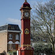 Highbury Fields Clock Tower, Islington.  Full paint research, analysis and consultancy on redecoration.  Client. Islington Borough Council